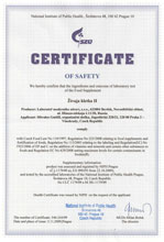 Certificate of safety SynchroVitals II