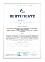 Certificate of safety Siberian Herb and Berry Extracts in Honey    The Red Label Blend