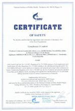 Certificate of safety Lymphosan J Comfort