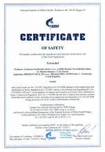 Certificate of safety Tetradiol