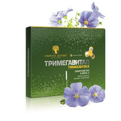Trimegavitals. Siberian linseed oil and omega-3 concentrate 500062